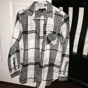 Black & White Banana Republic Flannel (XS)